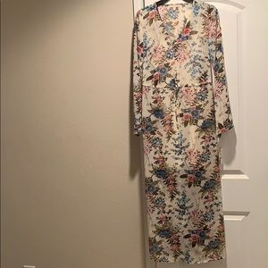 GB Sheer White Floral Maxi Dress